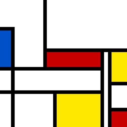 A Mondrian pastiche