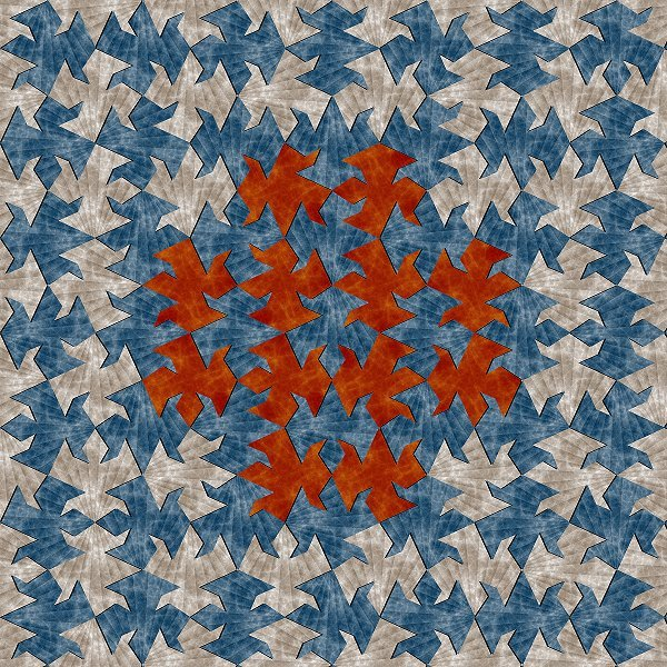 Aperiodic tiling by Samuel Monnier