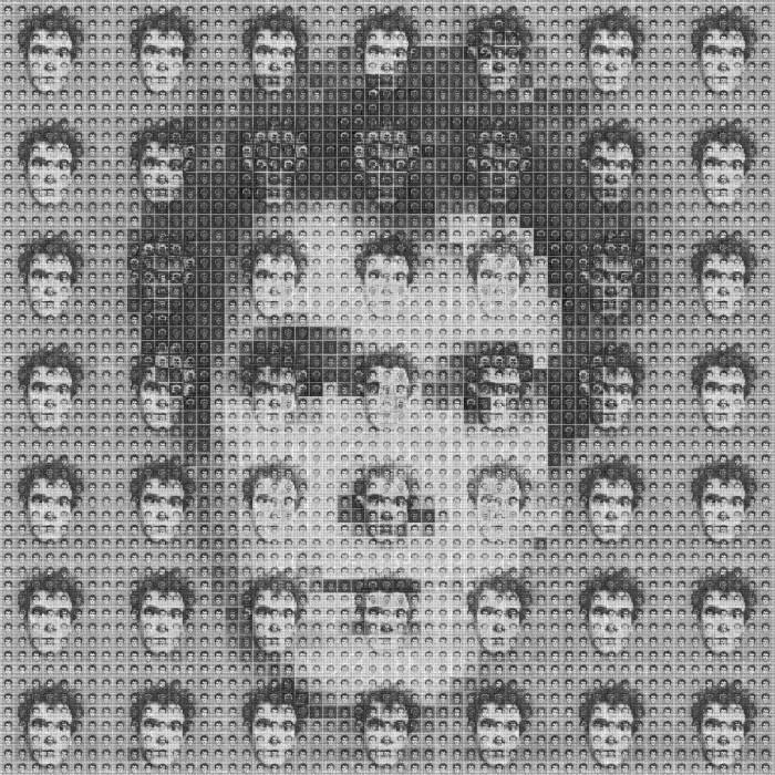 Algorithmic self-portrait by Samuel Monnier